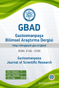 Journal of Gaziosmanpasa Scientific Research